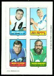 1969 Topps Four-in-One Inserts #42 Nelsen/Munson/Ramsey/Curtis