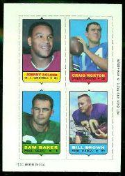 1969 Topps Four-in-One Inserts #48 Roland/Morton/Bi.Brown/Baker