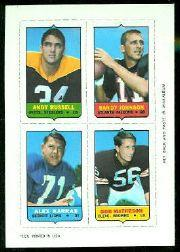1969 Topps Four-in-One Inserts #49 Russell/R.Johnson/Matheson/Karras