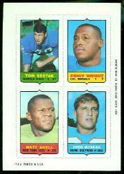 1969 Topps Four-in-One Inserts #51 Sestak/Wright/Moreau/Snell