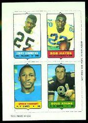 1969 Topps Four-in-One Inserts #52 Simmons/B.Hayes/Atkins/Lockhart