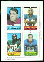 1969 Topps Four-in-One Inserts #54 Stallings/R.Taylor/Gibbons/Bo.Brown T