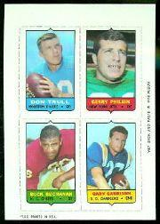 1969 Topps Four-in-One Inserts #59 Trull/Philbin/Garrison/Buchanan