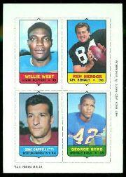 1969 Topps Four-in-One Inserts #62 West/Herock/Byrd/Cappelletti