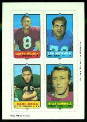 1969 Topps Four-in-One Inserts #64 L.Wilson/Michaels/Gambrell/Gros