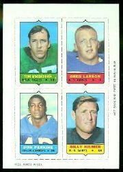 1969 Topps Four-in-One Inserts #66 Woodeshick/Larson/Kilmer/Perkins