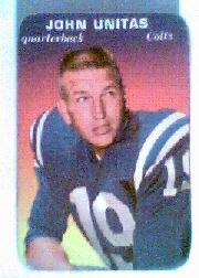 1970 Topps Glossy Inserts #2 Johnny Unitas