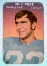 1970 Topps Glossy Inserts #33 Dick Post