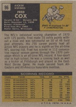 1971 Topps #96 Fred Cox