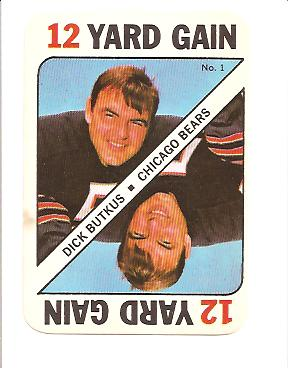1971 Topps Game Inserts #1 Dick Butkus DP