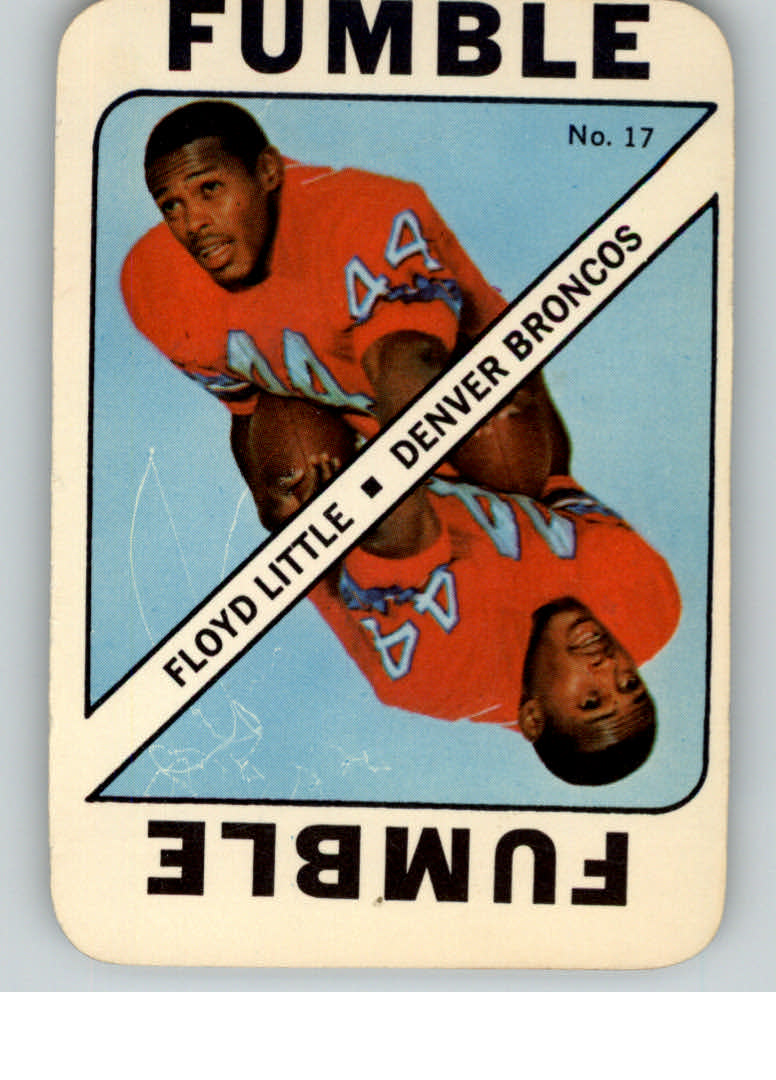 1971 Topps Game Inserts #17 Floyd Little