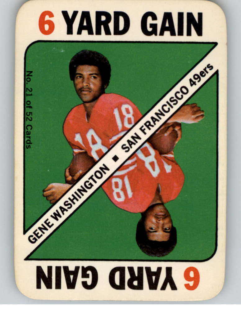 1971 Topps Game Inserts #21 Gene Washington 49er