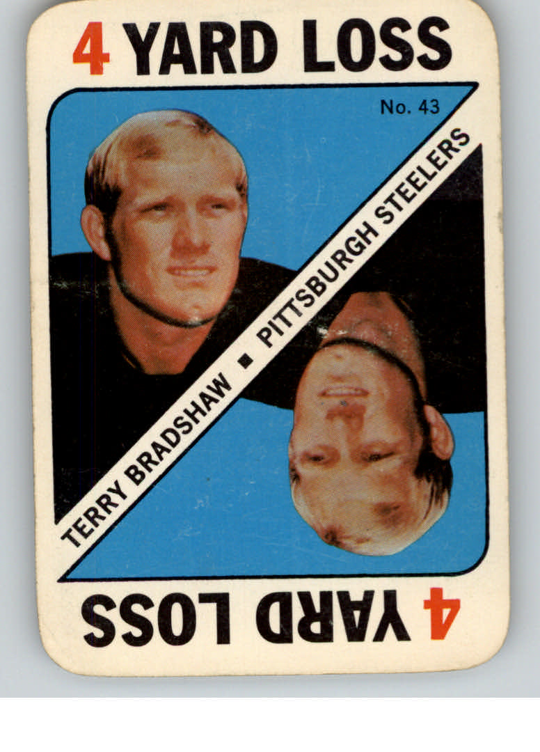 1971 Topps Game Inserts #43 Terry Bradshaw