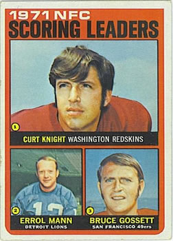 1972 Topps #8 NFC Scoring Leaders/Curt Knight/Errol Mann/Bruce Gossett