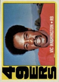 1972 Topps #22 Vic Washington RC