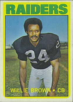 1972 Topps #28 Willie Brown front image