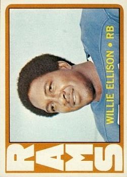 1972 Topps #62 Willie Ellison RC
