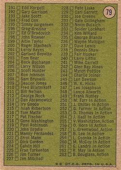 1972 Topps #79 Checklist 133-263 DP back image