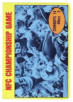 1972 Topps #138 NFC Title Game/Cowboys 14,/49ers 3/(Bob Lilly/making tackle)