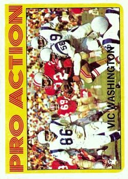1972 Topps #255 Vic Washington IA