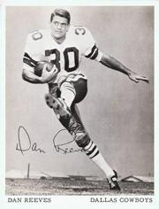 1972 Cowboys Team Issue 4x5-1/2 #35 Dan Reeves