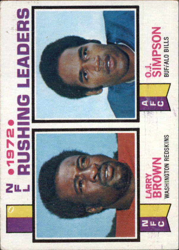1973 Topps #1 Simpson/L.Brown LL
