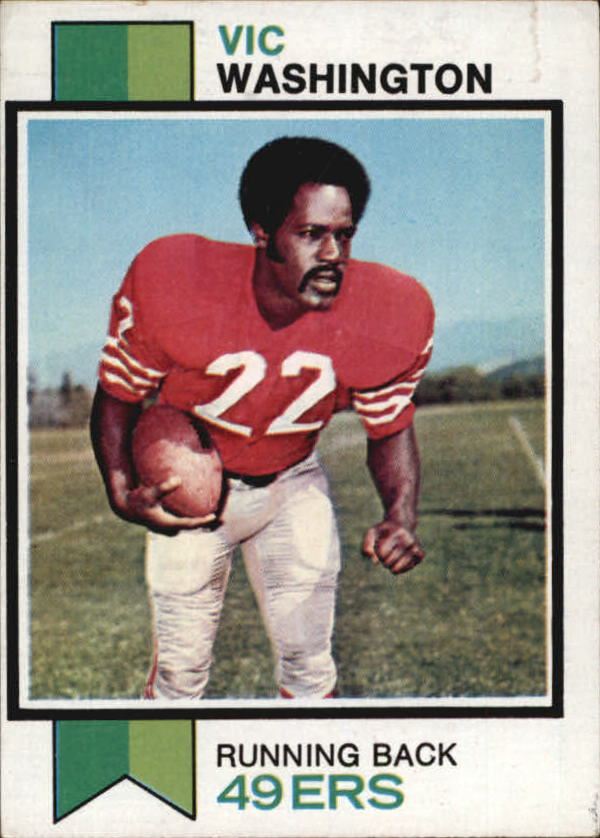 1973 Topps #238 Vic Washington
