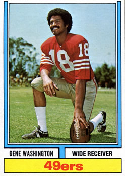 1974 Topps #46 Gene Washington 49er