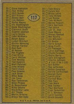 1974 Topps #117 Checklist 1-132 UER/(345 Hamburger) back image
