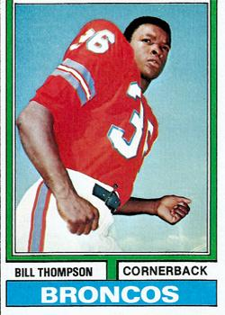 1974 Topps #166 Bill Thompson