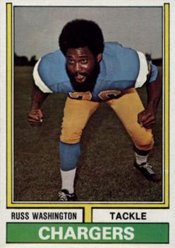 1974 Topps #416 Russ Washington