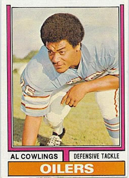 1974 Topps #501 Al Cowlings UER/(Def. tackle on front,/Def. End on back)