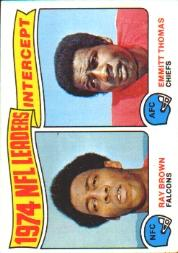 1975 Topps #5 Interception Leaders