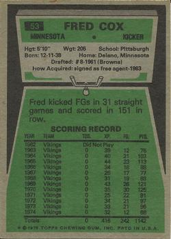 1975 Topps #53 Fred Cox