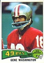 1975 Topps #165 Gene Washington 49er