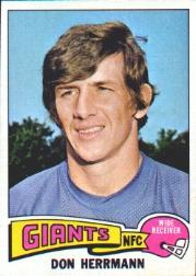 1975 Topps #308 Don Herrmann