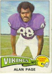 1975 Topps #520 Alan Page