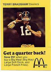 1975 McDonald's Quarterbacks #1 Terry Bradshaw