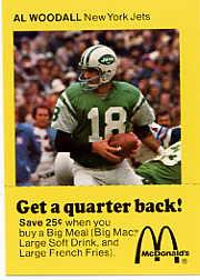 1975 McDonald's Quarterbacks #4 Al Woodall