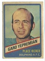 1976 Wonder Bread #12 Garo Yepremian front image