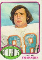 1976 Topps #154 Jim Mandich