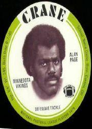 1976 Crane Discs #23 Alan Page