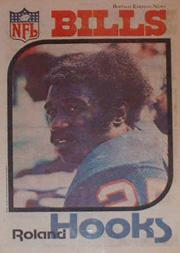 1977 Bills Buffalo News Posters #4 Roland Hooks