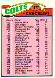 1977 Topps #202 Baltimore Colts CL
