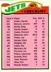1977 Topps #219 New York Jets CL