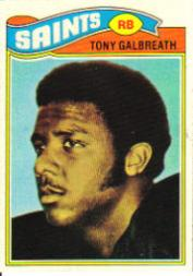 1977 Topps #257 Tony Galbreath RC
