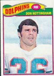 1977 Topps #492 Don Nottingham