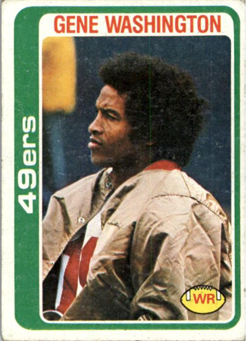 1978 Topps #403 Gene Washington 49er
