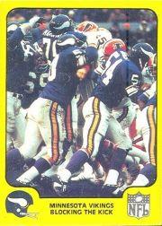 1978 Fleer Team Action #30 Minnesota Vikings