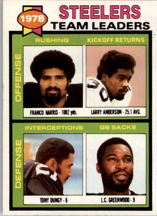 1979 Topps #19 Pittsburgh Steelers TL/Franco Harris/Larry Anderson/Tony Dungy/L.C. Greenwood/(checklist back)
